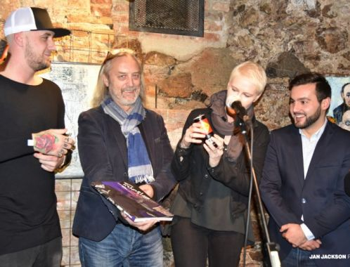 Book launch of comic book The Lurker in Brno