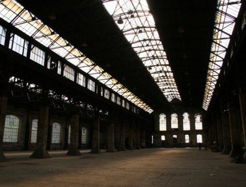 The Michael2007 Project - exhibition space - a former factory hall in Prague's district of Karlin