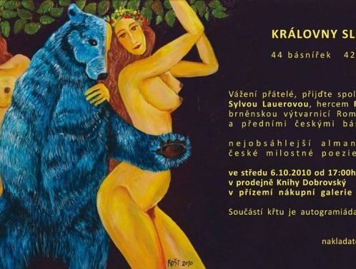 The Queens of Blackberries and Tears - book launch event, Brno - invitation