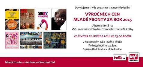 Sylva Lauerová will obtain a prize  for her book SEXY strategy at Annual Awards for 2015 by Publishing House Mladá Fronta at the International Book Fair